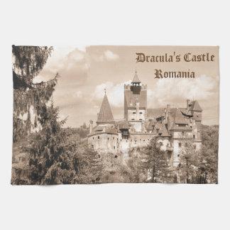 Dracula Castle in Transylvania, Romania Tea Towel
