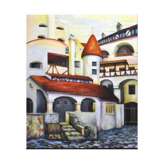 Dracula Castle - the interior courtyard Canvas Print