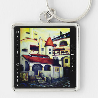 Dracula Castle - the interior courtyard, Romania Key Ring