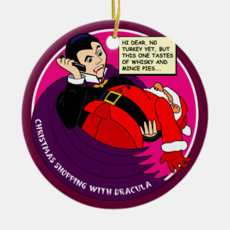 Dracula Christmas Shopping Christmas Ornament