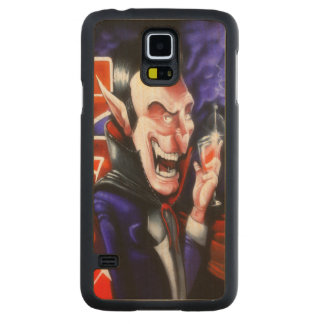 Dracula drinks blood carved maple galaxy s5 case