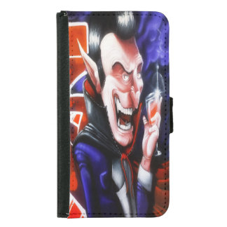 Dracula drinks blood samsung galaxy s5 wallet case