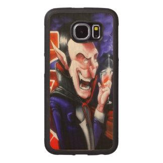 Dracula drinks blood wood phone case
