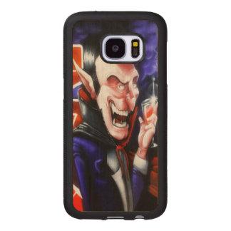 Dracula drinks blood wood samsung galaxy s7 case