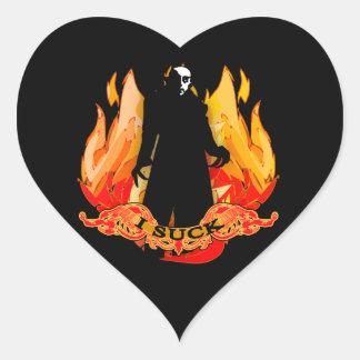 Dracula Nosferatu I SUCK with Flames Stickers