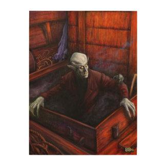 Dracula Nosferatu Vampire Wood Wall Art