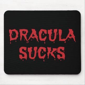 Dracula Sucks - Funny Halloween Vampire Mouse Pad