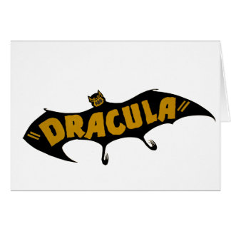 Dracula Vampire Bat Card