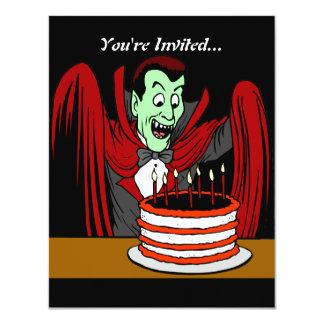 Dracula Vampire | Halloween Birthday Card