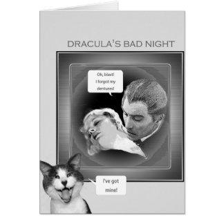 Dracula's bad night greeting card