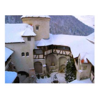 Dracula's Castle, Bran, Transylvania, winter Postcard