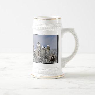 Dracula's castle in winter beer stein