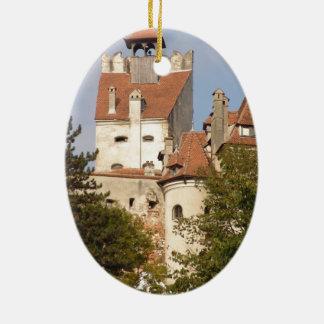 Dracula's Castle, Transylvania Christmas Ornament