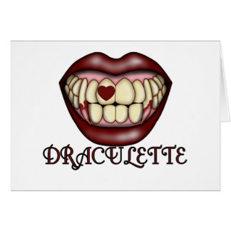 Draculette Tshirts and Gifts Greeting Cards