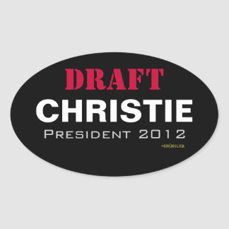 DRAFT Chris Christie President 2012 Oval Sticker