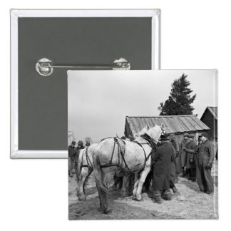 Draft Horse Auction 1930s Pin