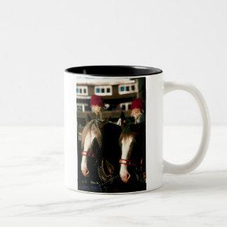 Draft Horse Tandem Two-Tone Coffee Mug