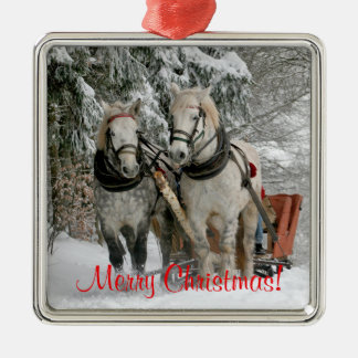 Draft Horses Christmas Christmas Ornament