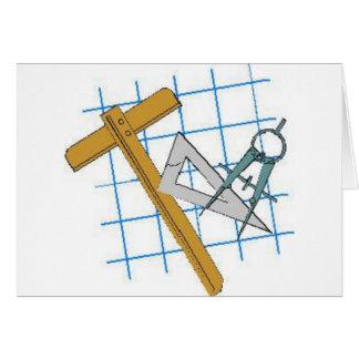 Drafting Design Tools Greeting Card