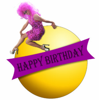 Drag Queen Happy Birthday Ornament Photo Sculpture Decoration