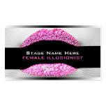 Drag Queen Hot Pink Diamond Bling Business Card