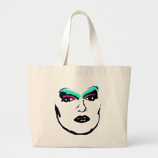 drag queen large tote bag