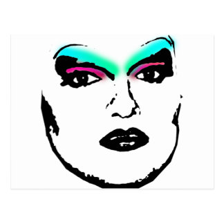 drag queen postcard