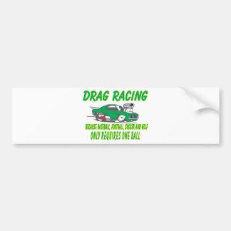 drag racing 1 car bumper sticker