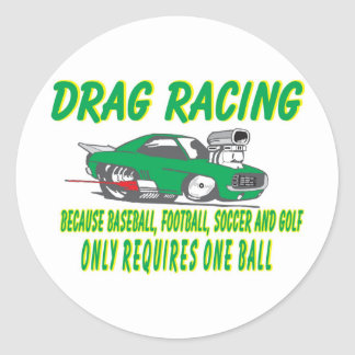 drag racing 1 classic round sticker