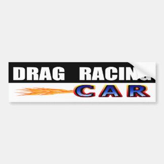 Drag Racing Car Bumper Sticker