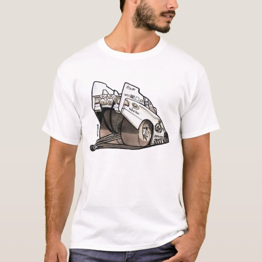 Drag Racing Funny Car Caricature T-Shirt