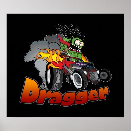 """Dragger"" Hot Rod Art Poster"