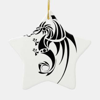 Dragissous V1 - black dragon Christmas Ornament