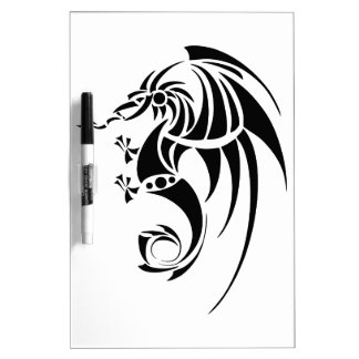 Dragissous V1 - black dragon Dry Erase Board