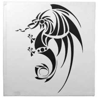 Dragissous V1 - black dragon Napkin