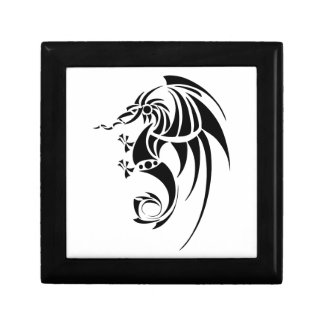 Dragissous V1 - black dragon Small Square Gift Box
