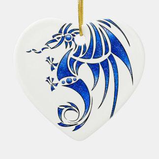Dragissous V1 - blue dragon Christmas Ornament
