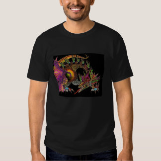 DRAGO / FANTASY DRAGON IN GOLD PURPLE AND BLACK SHIRT