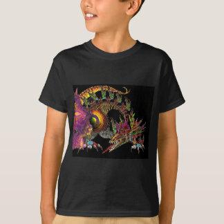 DRAGO / FANTASY DRAGON IN GOLD PURPLE AND BLACK T-Shirt