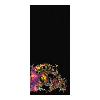 DRAGO / FANTASY GOLD DRAGON IN PURPLE AND BLACK RACK CARD DESIGN
