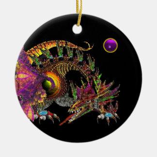 DRAGO Purple Amethyst Monogram Christmas Ornament