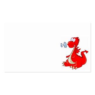 dragon302  RED CARTOON DRAGON CUTE HAPPY KIDS GRAP Business Cards