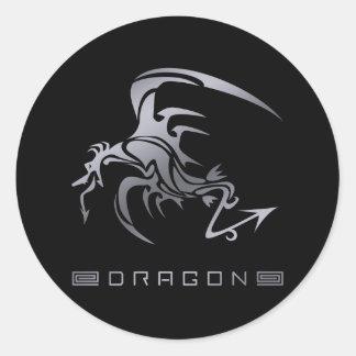DRAGON6 ROUND STICKER