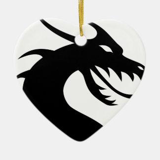 dragon-149393 ceramic heart decoration