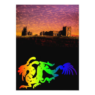 Dragon 14 Cm X 19 Cm Invitation Card