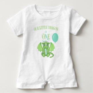 Dragon 1st Birthday Romper Baby Bodysuit
