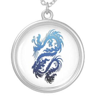 Dragon 23 blue custom necklace