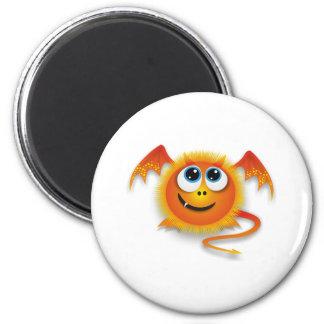 Dragon 6 Cm Round Magnet