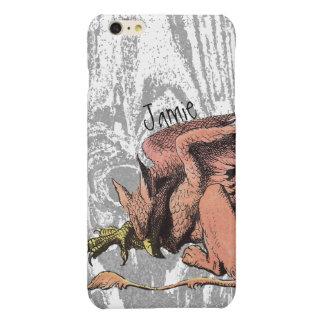 Dragon Alice in Wonderland Gray Wood Pattern iPhone 6 Plus Case