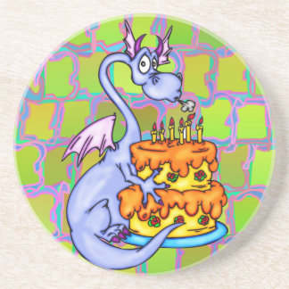 Dragon and Birthday Cake Coaster